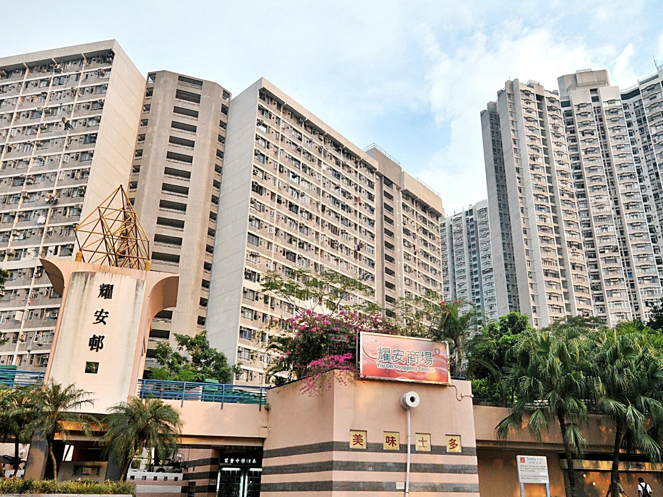 事發於耀安邨一單位。資料圖片