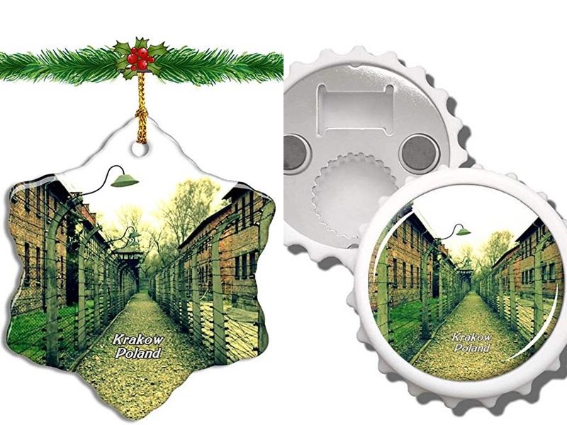 亞馬遜聖誕飾品印集中營圖像。網圖