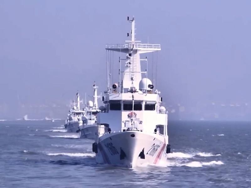 海警局公開艦艇。影片截圖