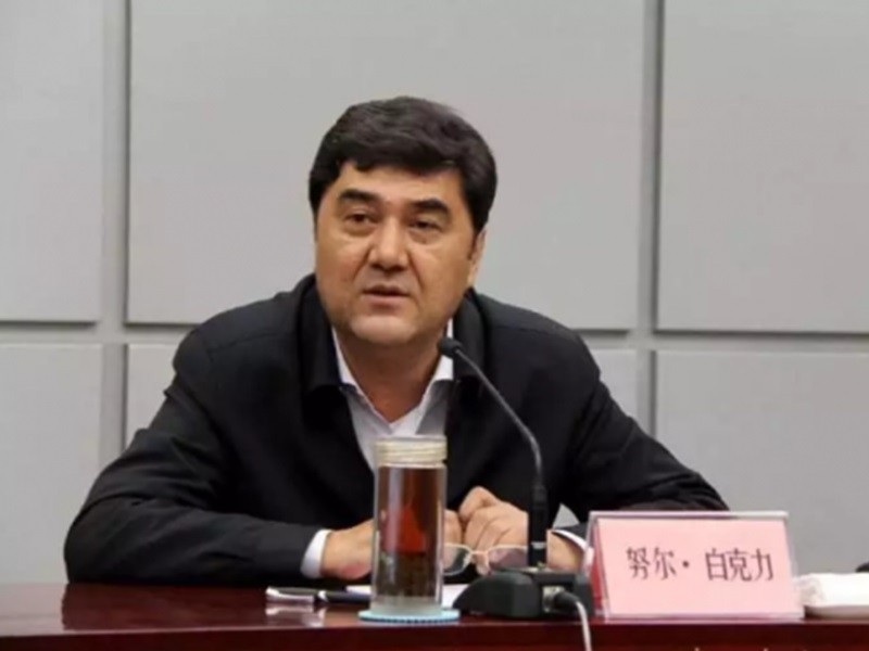 前新疆自治區政府主席努爾‧白克力受賄。網圖