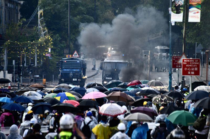 文章指任何企圖借搞亂香港阻遏中國發展的陰謀不會得逞。資料圖片