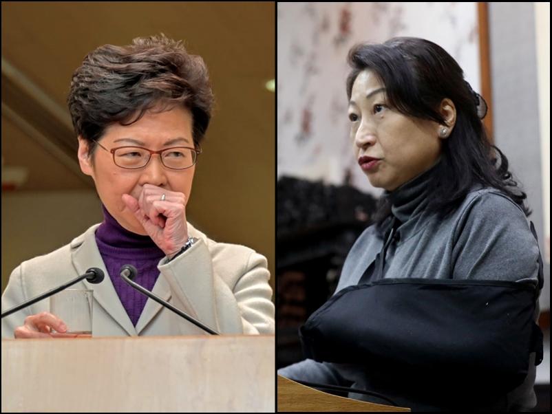 林鄭月娥指鄭若驊仍在放病假。