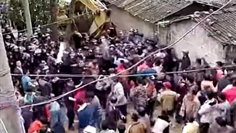 廣東茂名化州縣文樓鎮,在上周四開始爆發激烈警民衝突。(網圖)