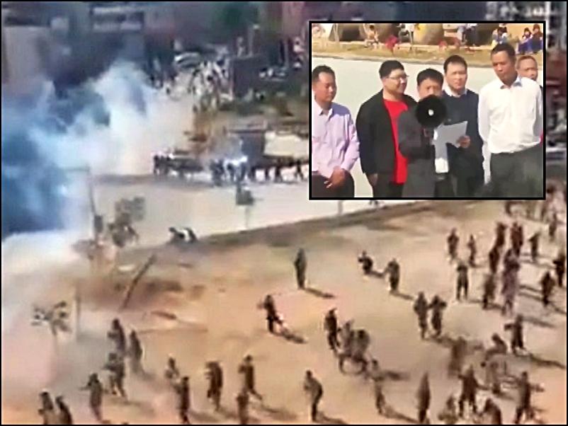 李偉華對住示威者說:「人文生態園(火葬場)是不會、永遠都不會在文樓建設。」(網圖)