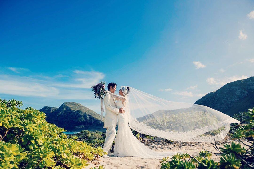 夏威夷婚禮照片。