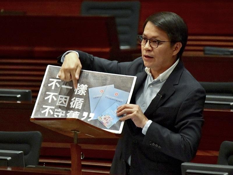 陳克勤連任立法會保安事務委員會主席。資料圖片