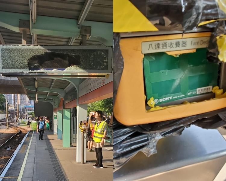 2少年涉9月初深夜時分連環毀壞3個屯門輕鐵站,2人早前承認3項刑事損壞罪,今判刑。 資料圖片