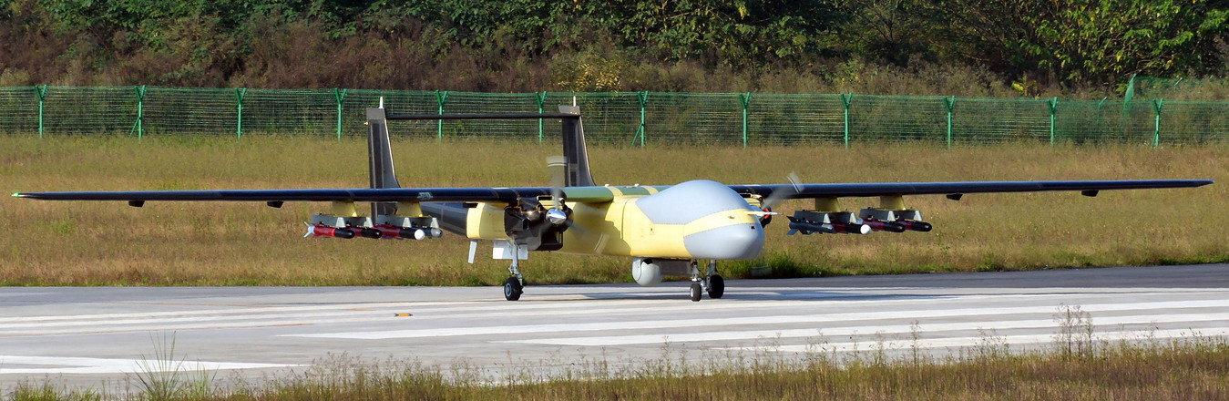 中國最新大型無人機。微博圖