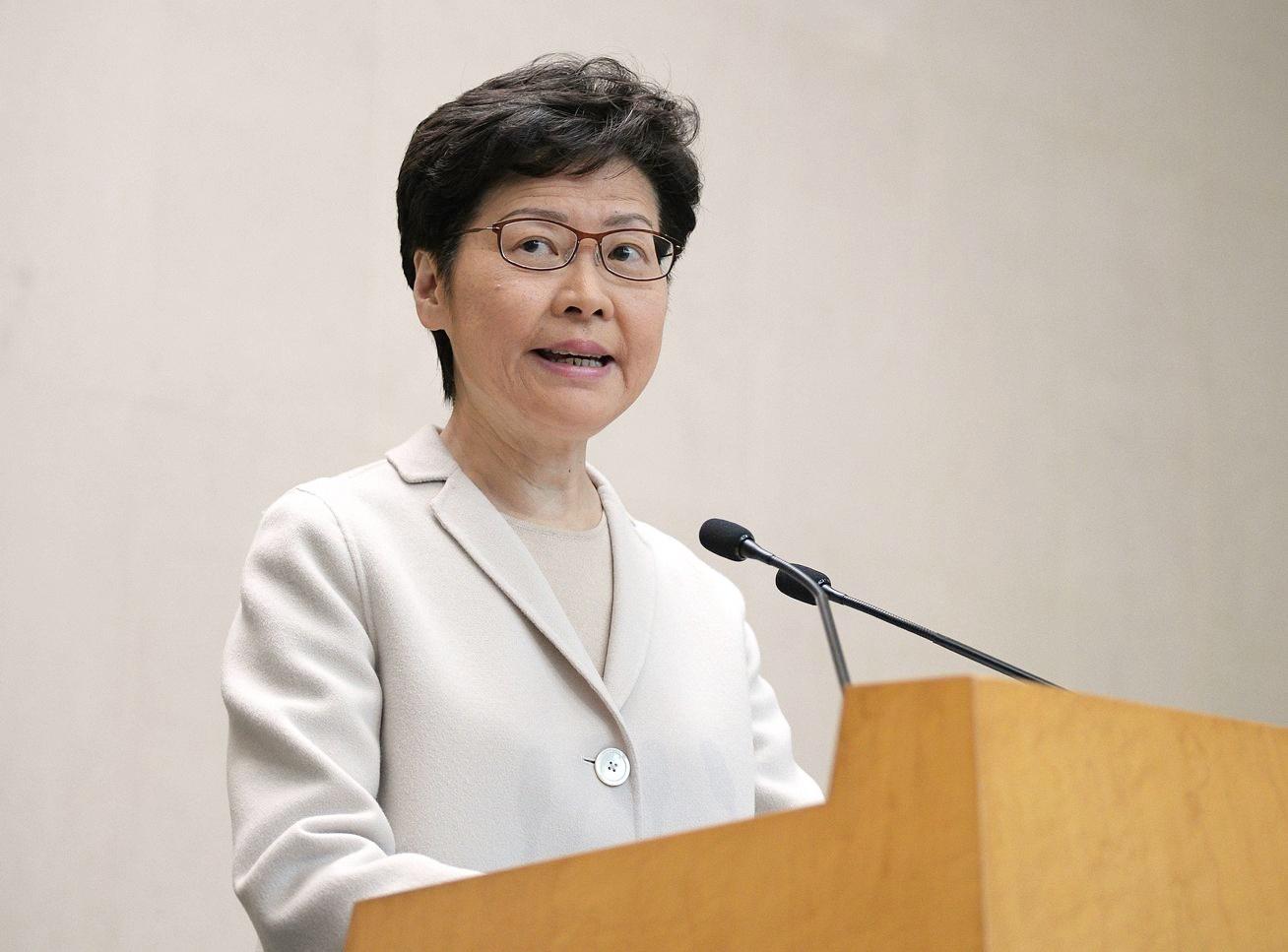 林鄭月娥早前表示,考慮設獨立檢討委員會。資料圖片
