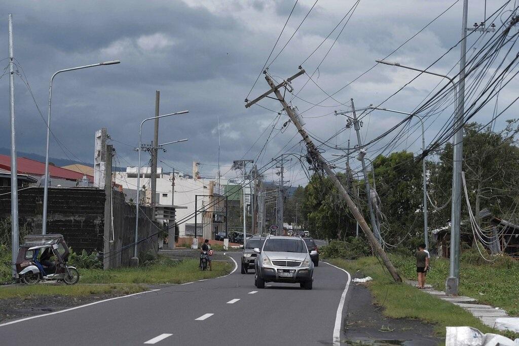 風暴「北冕」橫掃菲律賓造成破壞。AP圖片