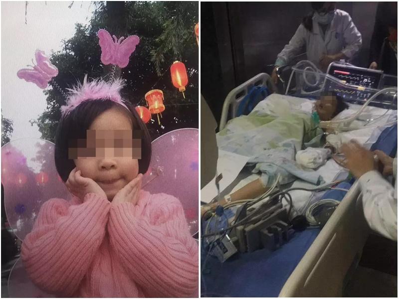 8歲女童遊樂場玩跳彈蹦床時墜落昏迷。網上圖片