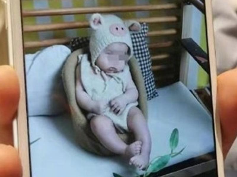 四月大女嬰推拿治療後死亡。網上圖片