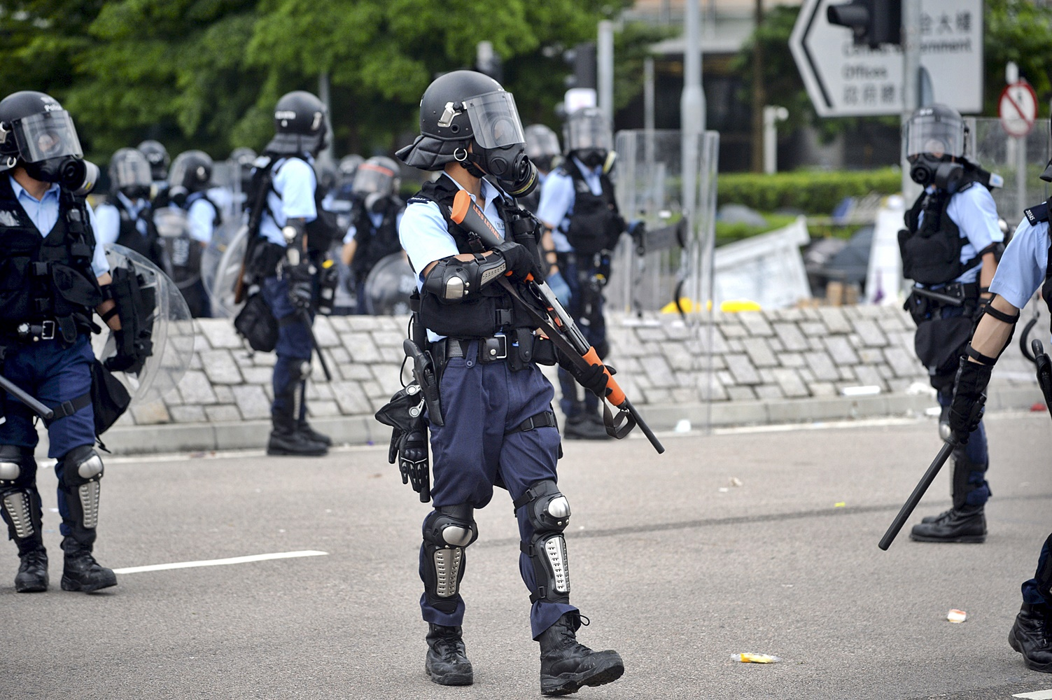 修例風波引致警方與示威者關係破裂。資料圖片