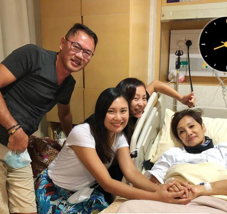 患病期間獲好多朋友支持和鼓勵,黎美嫻到過醫院探望。