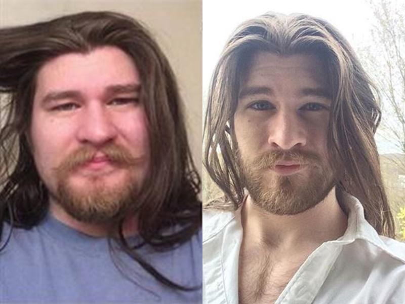 肯德爾由胖子變型男。網上圖片