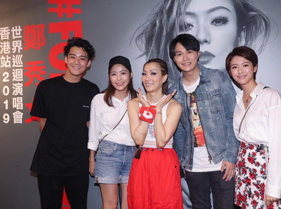 7月時3人結伴賴慰玲去睇鄭秀文演唱會。