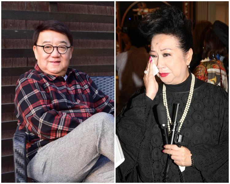薛家燕(右)提起好友黎小田即落淚。