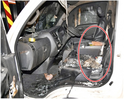 汽油彈襲大角嘴海產公司貨車 防暴警戒備