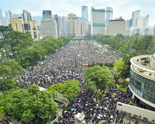 【修例風波】民陣下午港島遊行 警譴責網上煽動破壞社會行為