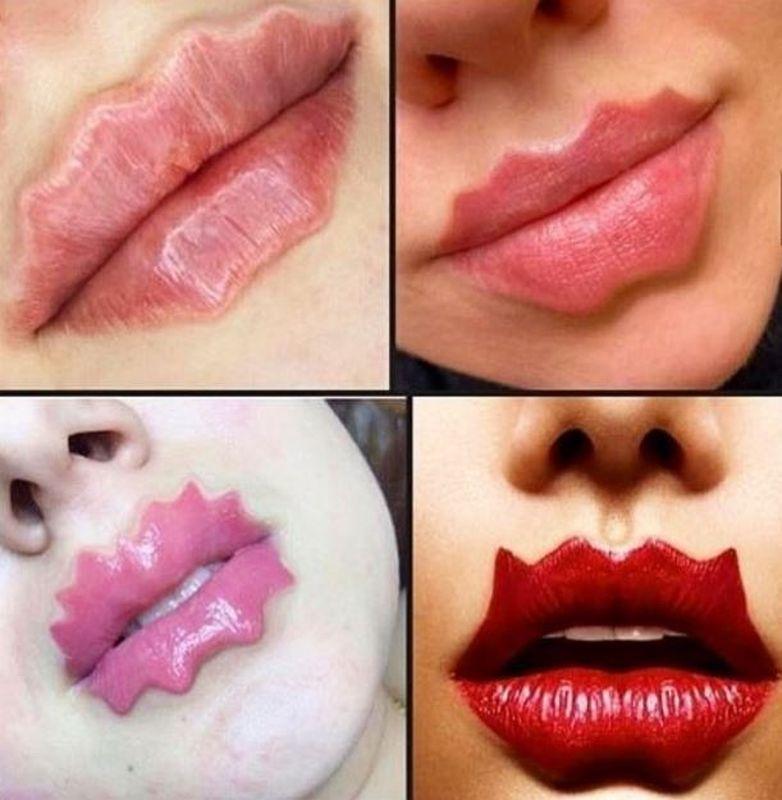 「魔鬼嘴唇」呈波浪型或多角形。ig
