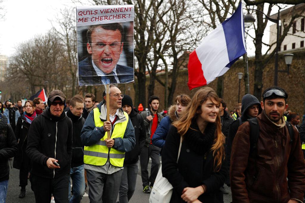示威抗議。AP