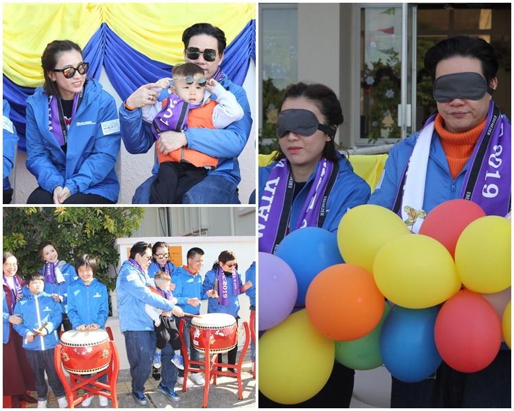 蘇永康、吳若希、劉鑾雄太太甘比晨早去體驗視障人士生活,好有愛心。
