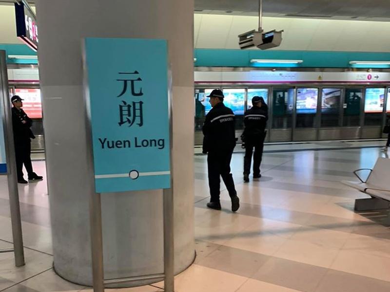 警方在多個港鐵站戒備。Ng Ian圖片