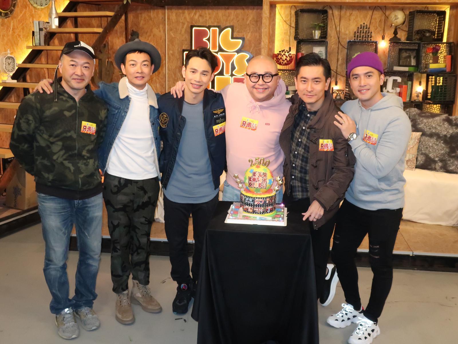 Bob與陳國峰、范振鋒、王梓軒、梁競徽為《兄弟幫》錄後一集。
