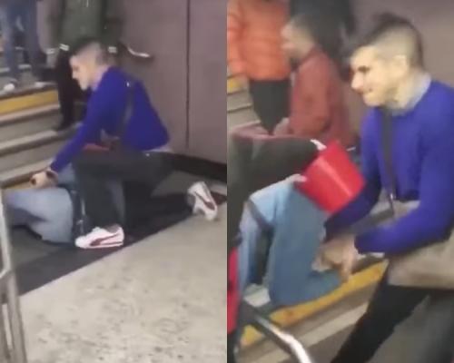 【修例風波】青年疑銅鑼灣站「跳閘」 美籍銀行家與警糾纏被控襲警