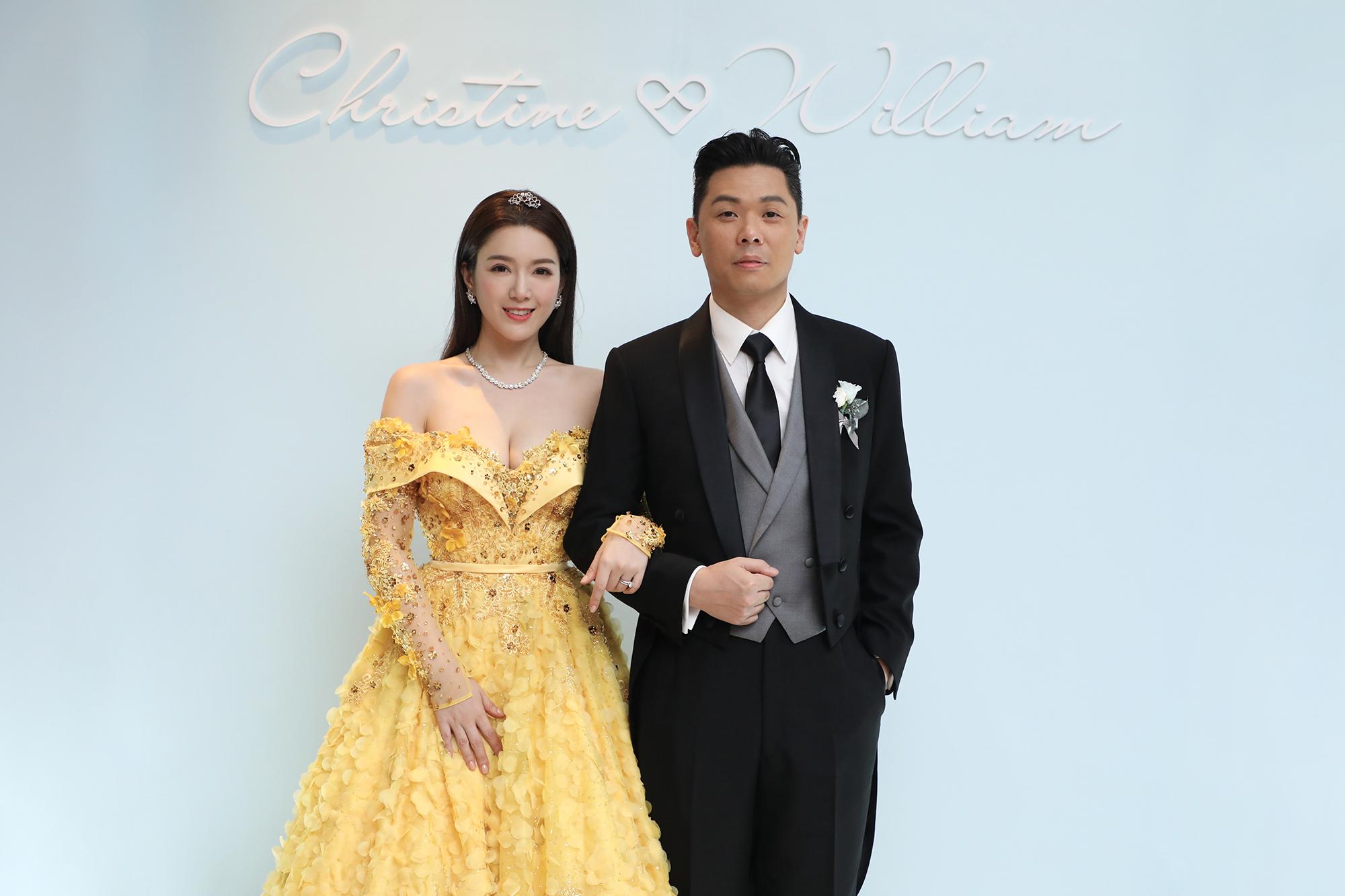 苟芸慧去年下嫁錫礦大王陸佑後人兼賽車手陸漢洋(右)。