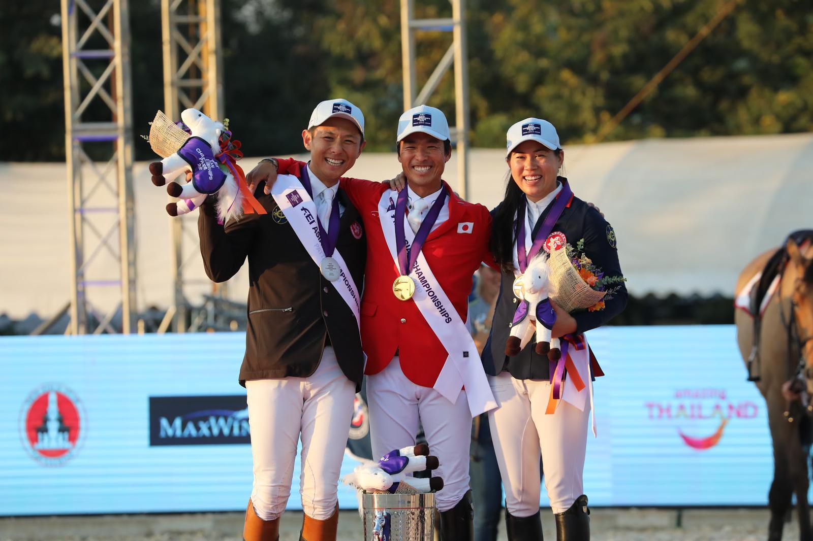 港隊在今屆賽事共取得一金三銀一銅的佳績。相片由馬會提供