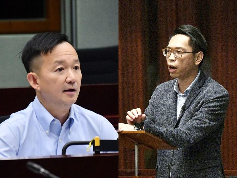 陳志全(左)與陸頌雄(右)。資料圖片