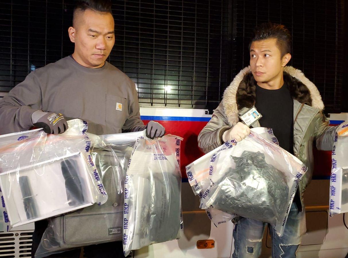 香港華仁書院附近現土製炸彈 藏有兩類粉狀化學物及鐵釘