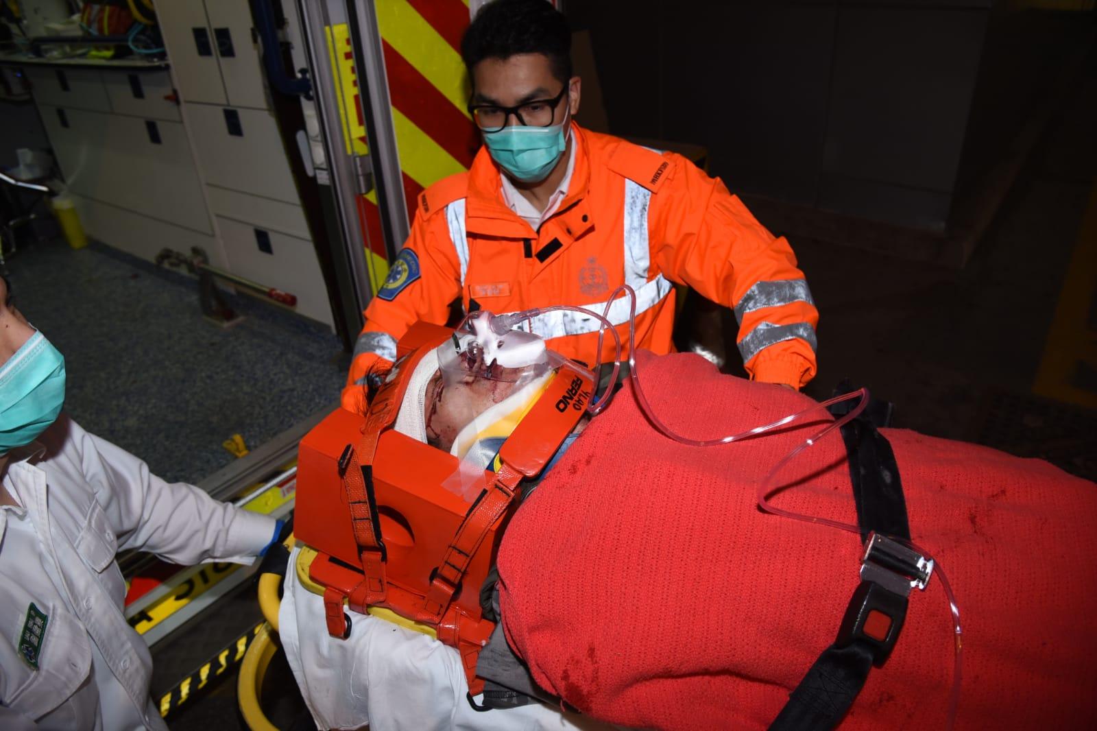 男子受傷送院。