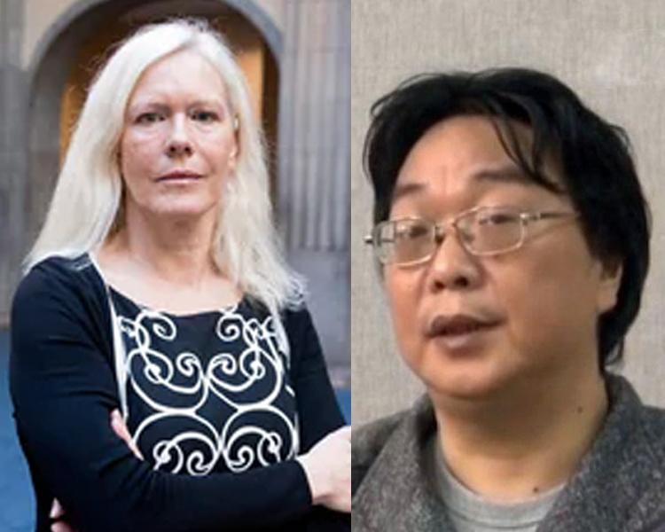 瑞典前駐華大使林戴安(左圖)涉越權安排桂民海(右圖)的女兒晤中國商人。(網圖)