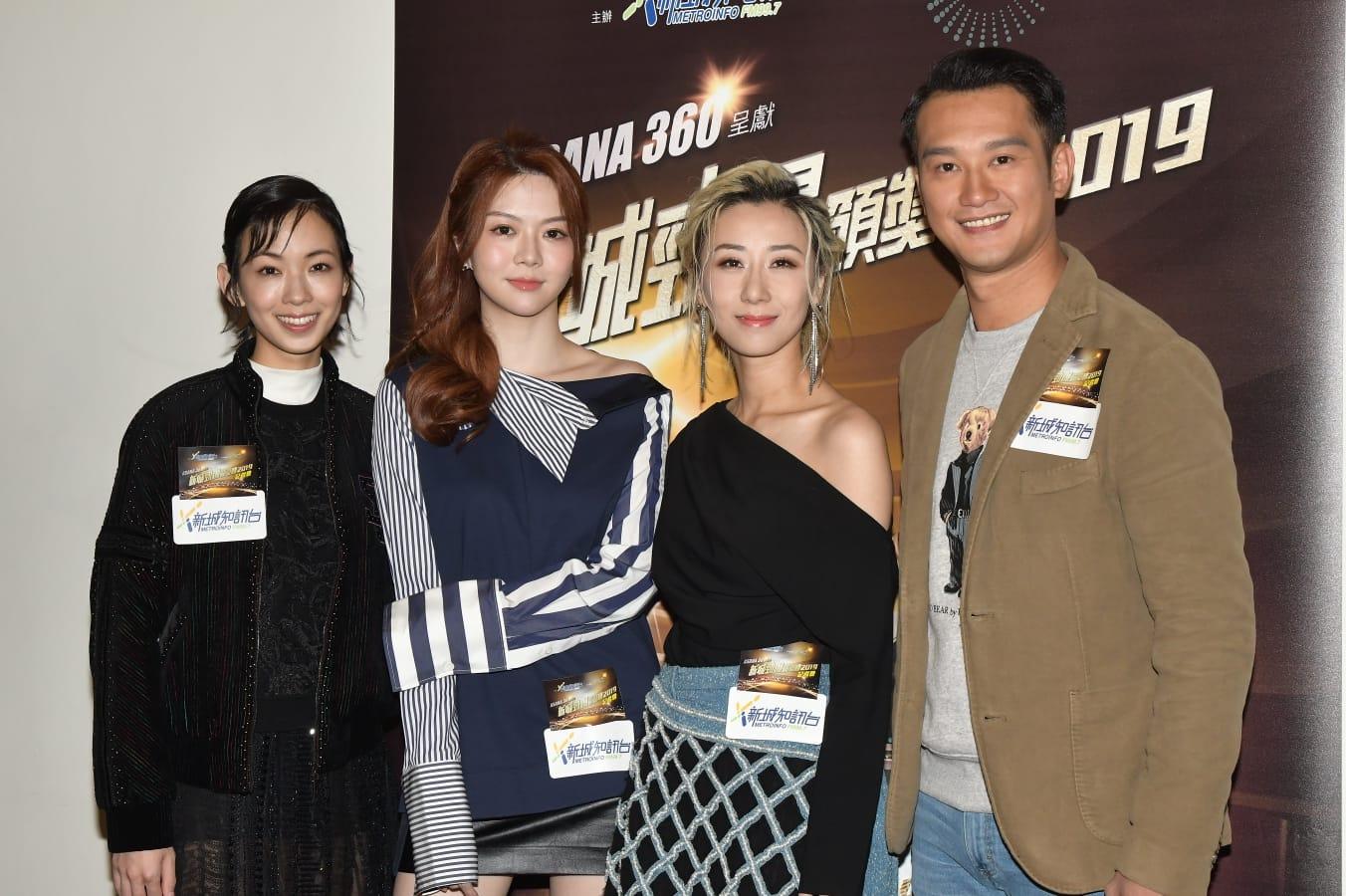 英皇歌手李靖筠、曾樂彤、泳兒、吳浩康全力支持。