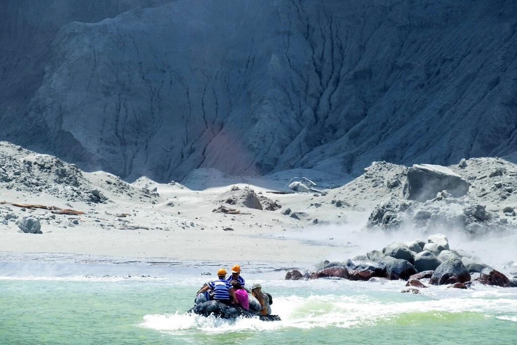 纽西兰搜救人员称岛上没有发现倖存者。图片