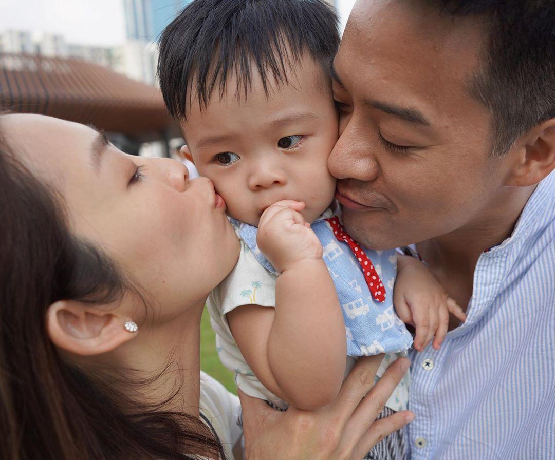 宋熙年與陳智燊於16年結婚,去年8月誕下兒子 Damon。