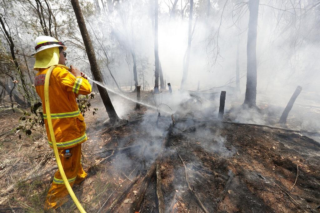 澳洲山火仍然持续。图片