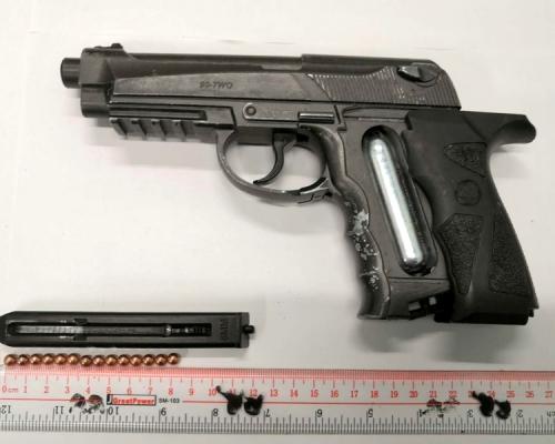 青年攜「鋼珠槍」遇防暴警就擒 連續三日檢殺傷力武器
