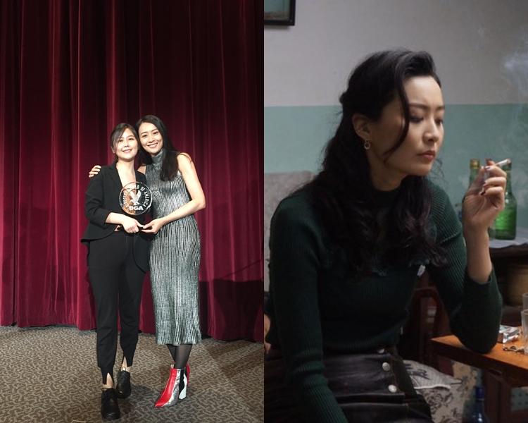 法拉及導演元圓出席頒獎典禮。