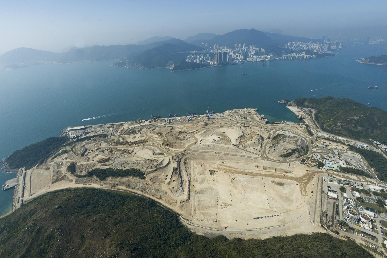 擬建將軍澳海水化淡廠選址。 資料圖片