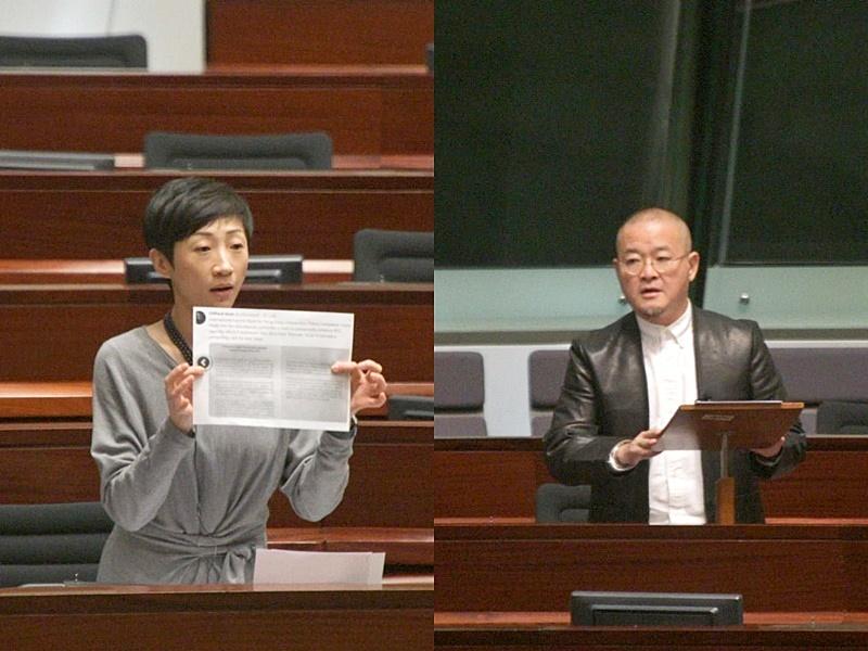 建制派動議解除陳淑莊及邵家臻議員職務被否決。
