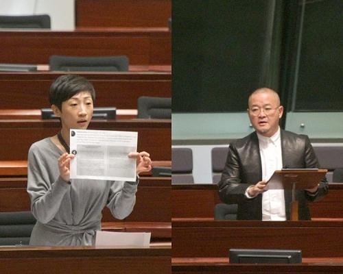 建制派動議解除陳淑莊及邵家臻議員職務被否決