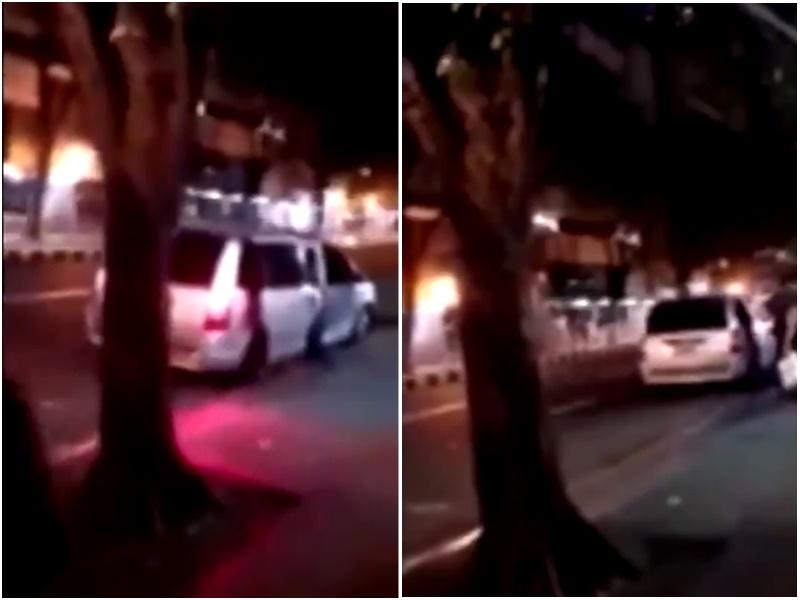 有網民拍攝到當街綁架過程。網上圖片