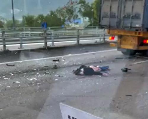 新田公路3車相撞七人車司機遭輾斃 兩司機被捕