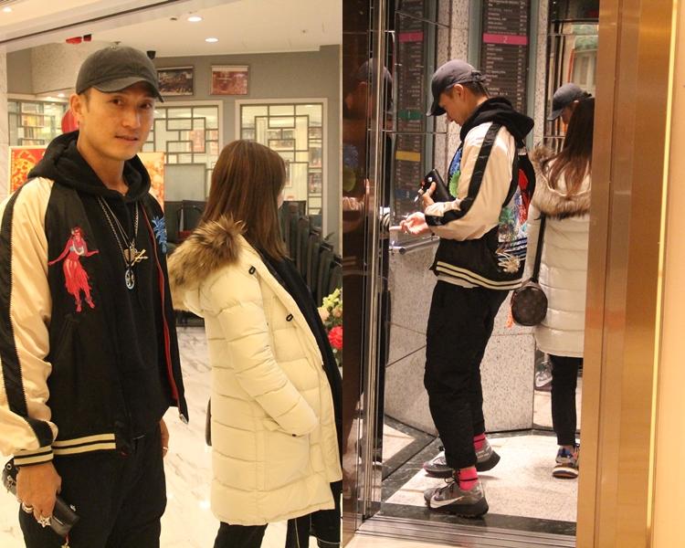 陳太好努力避鏡頭,無論企喺山聰側面定入電梯後。