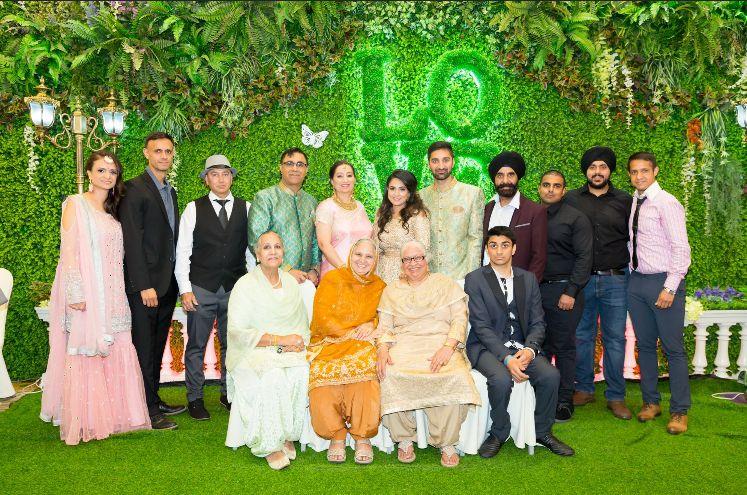 大仔印度豹Inderpal與醫師太太Manjit結婚,喬寶寶兩公婆安樂晒。