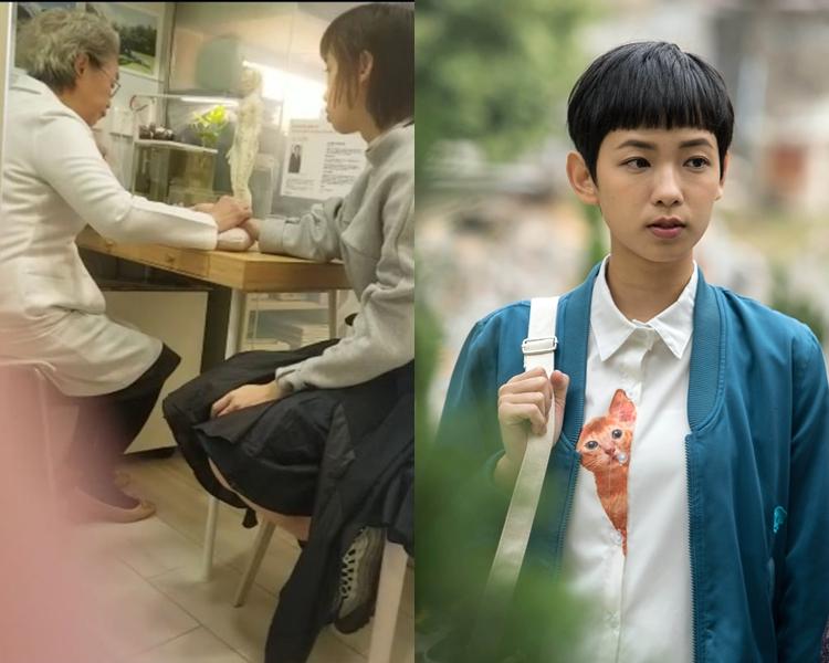 醫師細心為Glayds把脈問診,安慰她說香港人個個都有壓力,唔使太擔心。