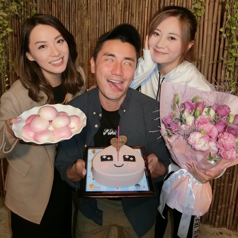 早前朱朱32歲生日,好姊妹煒哥和「老公」Tony都有為她慶祝。